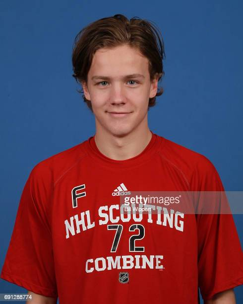Jesper Boqvist poses for a headshot at the NHL Combine at HarborCenter on June 1 2017 in Buffalo New York