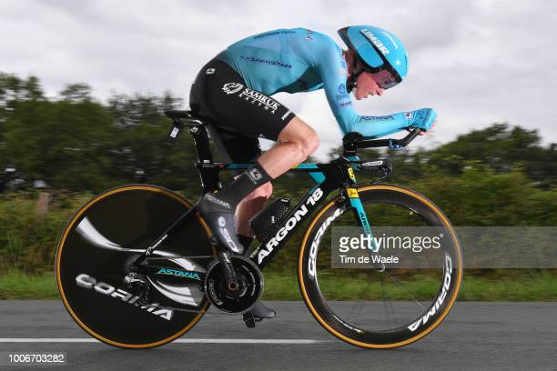 Jesper Hansen of Denmark and Astana Pro Team /during the 105th Tour de France 2018, Stage 20 a 31km Individual Time Trial stage from...