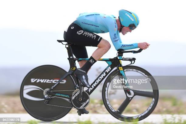 Jesper Hansen of Denmark and Astana Pro Team / during the 58th Vuelta Pais Vasco 2018, Stage 4 a 19,4km individual time trial stage from Lodosa to...
