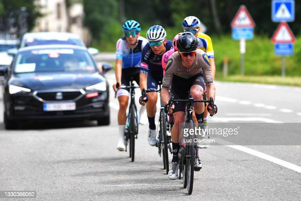 Jesper Hansen of Denmark and Riwal Cycling Team in the Breakaway during the 42nd Tour de Wallonie 2021, Stage 5 a 183,1km stage from Dinant to...
