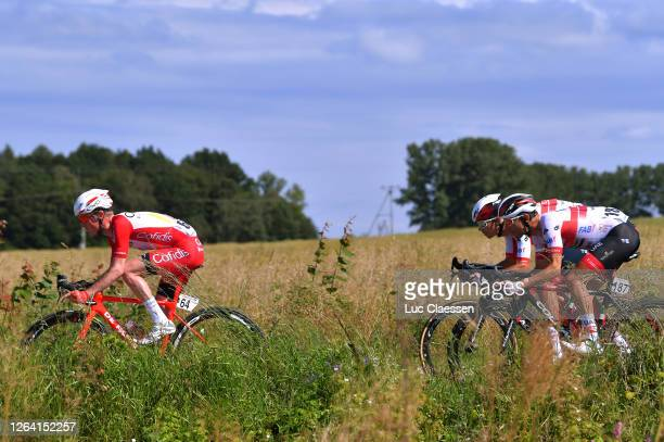 Jesper Hansen of Denmark and Team Cofidis Solutions Crédits / Diego Ulissi of Italy and UAE Team Emirates / during the 77th Tour of Poland 2020,...