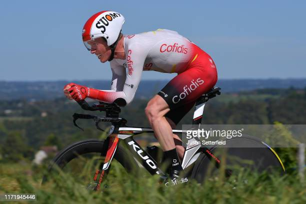 Jesper Hansen of Denmark and Team Cofidis Solutions Credits / during the 74th Tour of Spain 2019, Stage 10 a 36,2 Individual Time Trial stage from...
