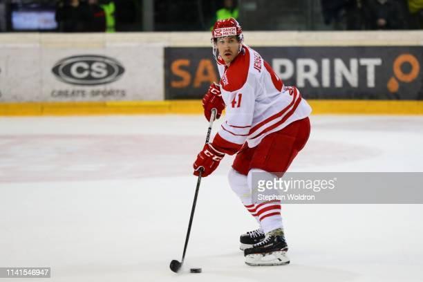 Jesper Jensen Aabo of Denmark during the Austria v Denmark - Ice Hockey International Friendly at Erste Bank Arena on May 5, 2019 in Vienna, Austria.