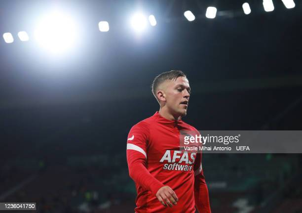 Jesper Karlsson of AZ Alkmaar ahead the UEFA Europa Conference League group D match between CFR Cluj and AZ Alkmaar at Constantin Radulescu Stadium...