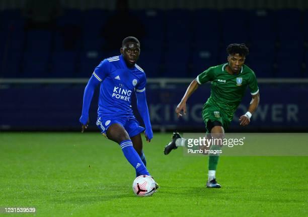 Jesper Kutshienza of Leicester City with Bastile Zottos of Sheffield Wednesday during Leicester City v Sheffield Wednesday: FA Youth Cup at Leicester...
