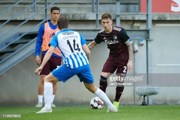Jesper Lauridsen of Esbjerg fB and Guillermo Varela of FC Copenhagen in action during the Danish Superliga match between Esbjerg fB and FC Copenhagen...