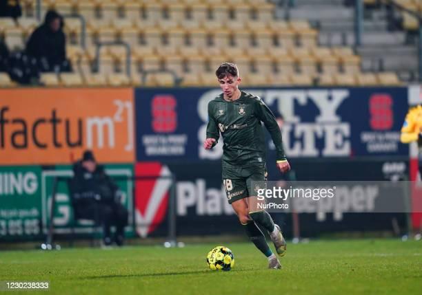 Jesper Lindström of Brøndby during the Superliga match between AC Horsens and Brøndby at CASA Arena, Horsens, Denmark on December 20, 2020.