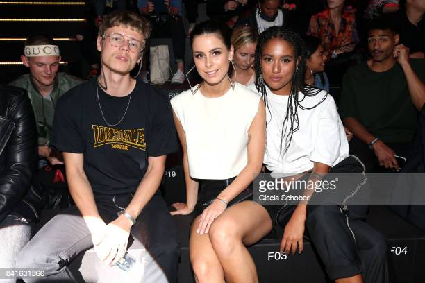 Jesper Munk Lena MeyerLandrut and Lary Poppins attend the Zalando A/W 17 women fashion show during the Bread Butter by Zalando at BB Stage arena...