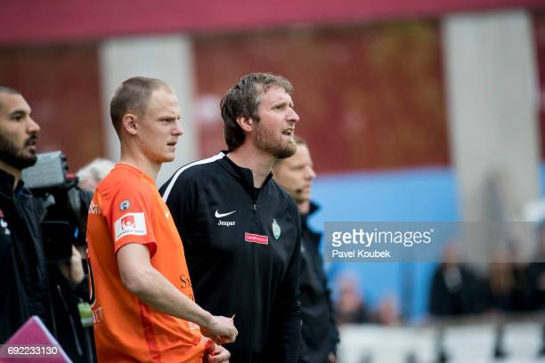 Jesper Norberg head coach of Athletic FC Eskilstuna during the Allsvenskan match between Athletic FC Eskilstuna and AIK at Tunavallen on June 4 2017...
