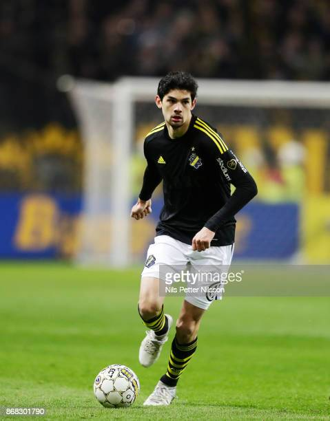 Jesper Nyholm of AIK during the Allsvenskan match between AIK and IFK Goteborg at Friends arena on October 30 2017 in Solna Sweden