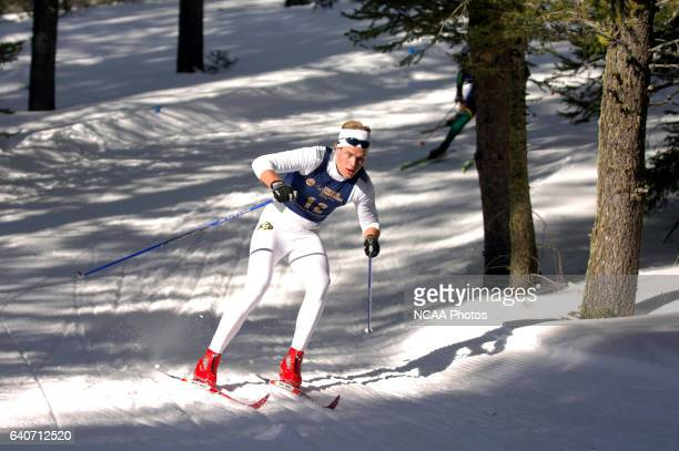 Jesper Ostensen of the University of Colorado races in the Men's 20k classic during the Division I Men's and Women's Skiing Championships held at...