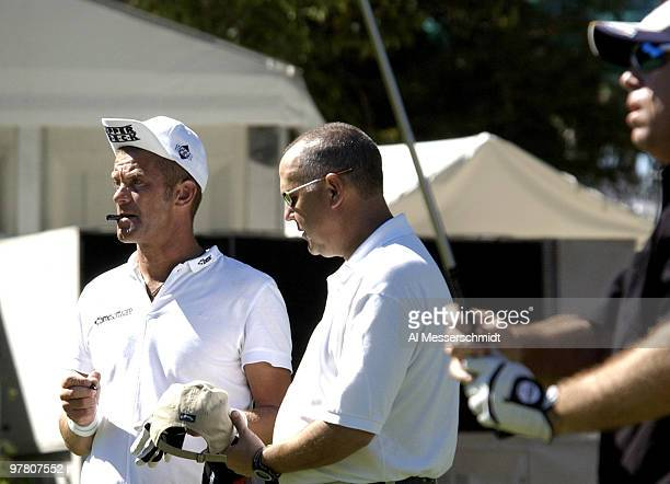 Jesper Parnevik checks a drive and signs an autograph on the 10th tee on Wednesday October 29 2003 during the Progress Energy Partners ProAm before...