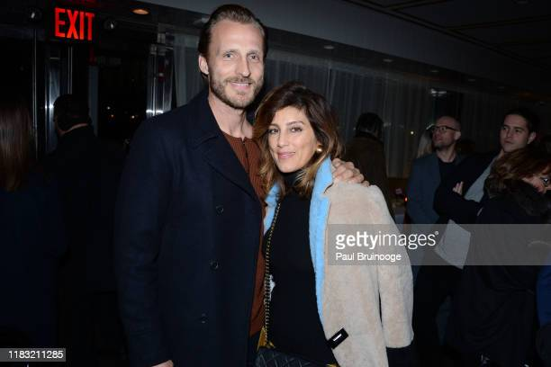 Jesper Vesterstrom and Jennifer Esposito attend New York Special Screening Of A Beautiful Day In The Neighborhood After Party at Le District...