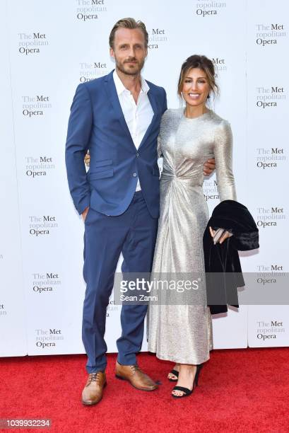 Jesper Vesterstrom and Jennifer Esposito attend The Metropolitan Opera Opening Night Gala SaintSaens' Samson et Dalila at Lincoln Center on September...