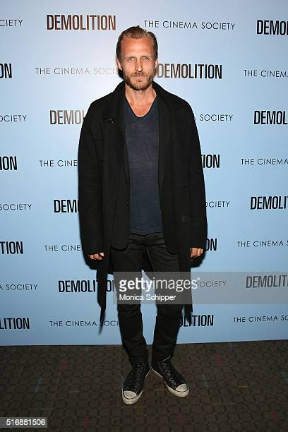 Jesper Vesterstrom attends Fox Searchlight Pictures with The Cinema Society Host A Screening of Demolition at SVA Theatre on March 21 2016 in New...