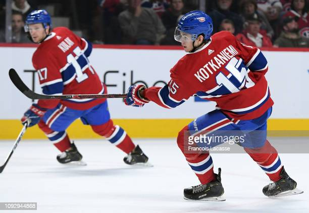Jesperi Kotkaniemi of the Montreal Canadiens skates against the Nashville Predators in the NHL game at the Bell Centre on January 5 2019 in Montreal...