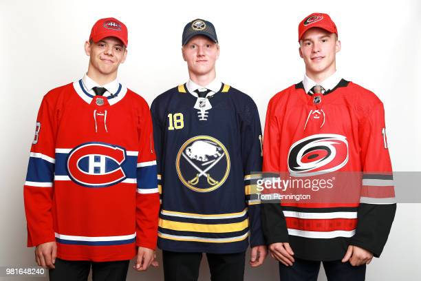 Jesperi Kotkaniemi who was selected third overall by the Montreal Canadiens Rasmus Dahlin who was selected first overall by the Buffalo Sabres and...
