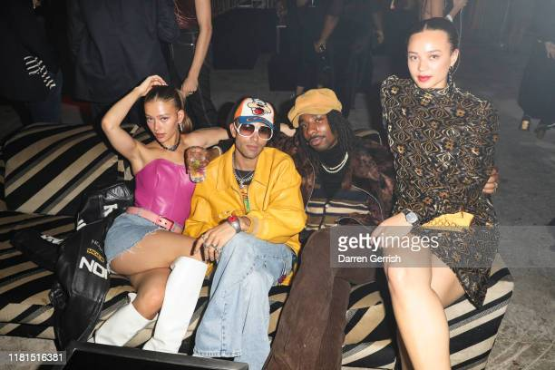 Jess Alexander Elias Riadi Shaquille Keith and Connie Constance attend the Global Launch of the Gucci Grip Watch at Hawley Wharf on October 16 2019...