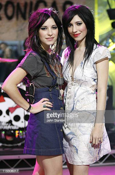 Jess and Lisa Origliasso of The Veronicas during 'The Veronicas' Perform Live Channel 7's Sunrise August 11 2006 at Channel 7 in Sydney NSW Australia