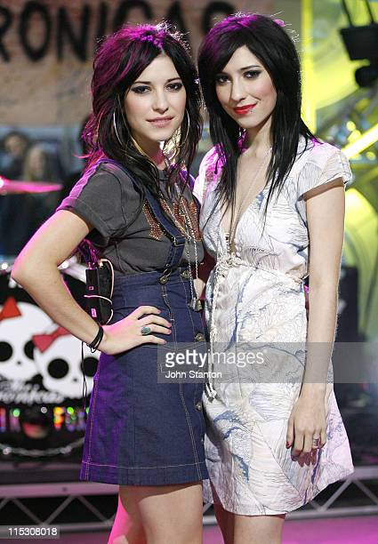 Jess and Lisa Origliasso of The Veronicas during The Veronicas Perform Live Channel 7's Sunrise August 11 2006 at Channel 7 in Sydney NSW Australia