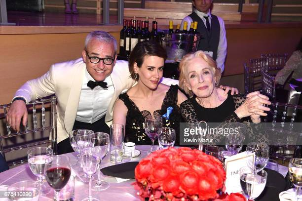 Jess Cagle Sarah Paulson and Holland Taylor attend 2017 Time 100 Gala at Jazz at Lincoln Center on April 25 2017 in New York City