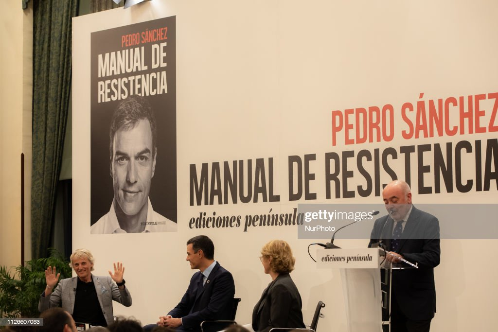 ESP: Pedro Sanchez Presents His Book 'Manual Of Resistance'