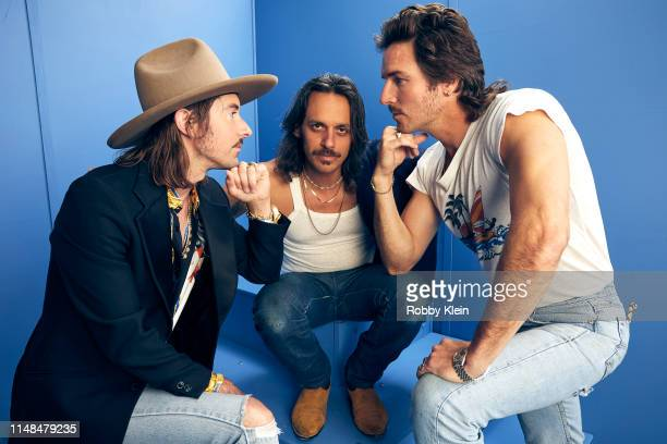 Jess Carson Cameron Duddy and Mark Wystrach of Midland pose for a portrait during the 2019 CMT Music Awards at Bridgestone Arena on June 5 2019 in...