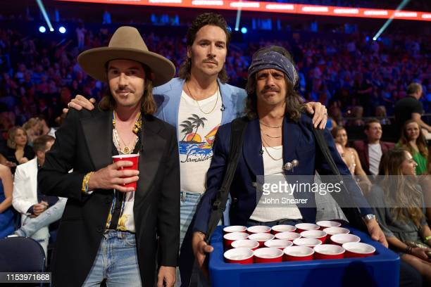 Jess Carson, Mark Wystrach and Cameron Duddy attend the 2019 CMT Music Awards at Bridgestone Arena on June 05, 2019 in Nashville, Tennessee.