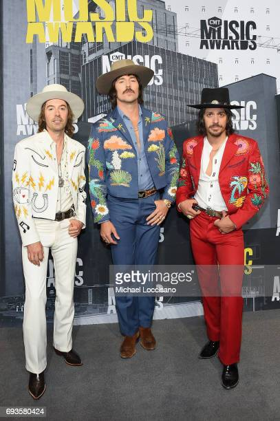 Jess Carson Mark Wystrach and Cameron Duddy of Midland attend the 2017 CMT Music Awards at the Music City Center on June 7 2017 in Nashville Tennessee