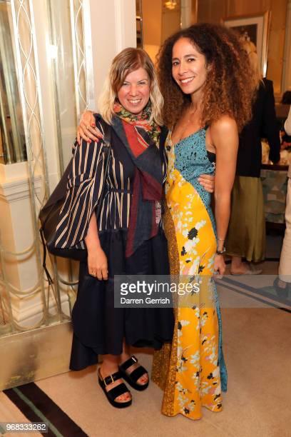 Jess Christie and Candice Fragis attend the Diane von Furstenberg lunch at Claridge's Hotel on June 6 2018 in London England