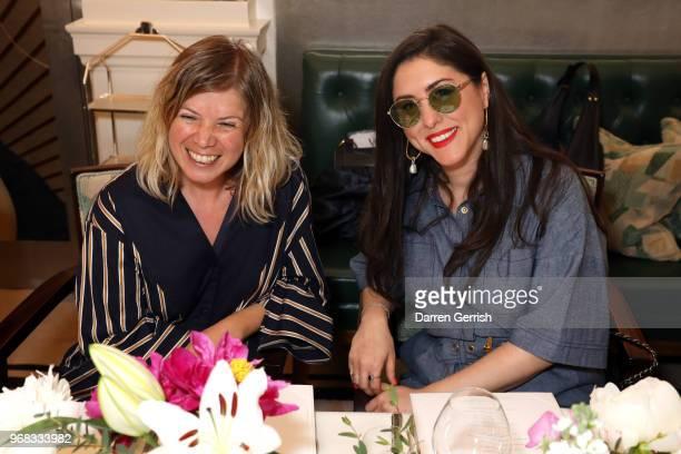 Jess Christie and Dena Giannini attend the Diane von Furstenberg lunch at Claridge's Hotel on June 6 2018 in London England