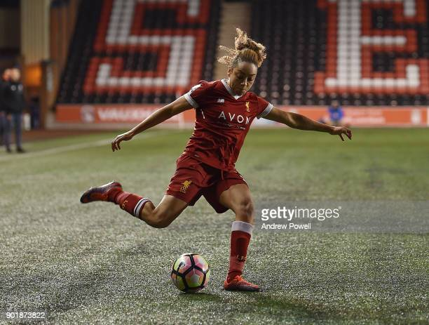 Jess Clarke of Liverpool Ladies during the FA Women's Super League match between Liverpool Ladies and Yeovil Town Ladies at Select Security Stadium...