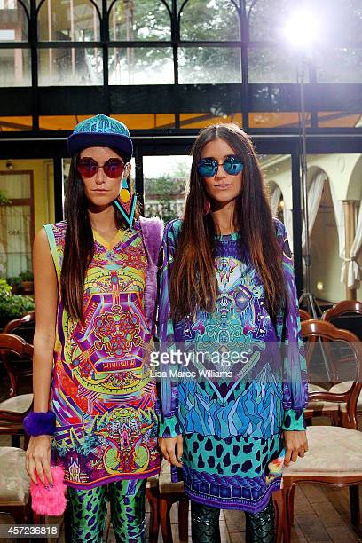 Jess Dadon and Steff Dadon attends the LAMARCK show as part of Mercedes Benz Fashion Week TOKYO 2015 S/S at Shibuya Hikarie on October 15 2014 in...