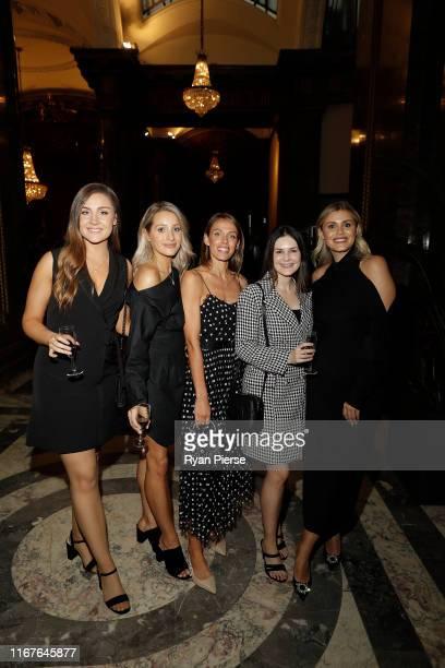 Jess Davies, partner of Travis Head, Bonnie Paine, wife of Tim Paine, Becky Boston, partner of Pat Cummins, Cat McAteer, partner of Marcus Harris and...