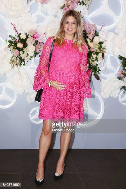 Jess Dempsey poses ahead of the Dior lunch at NGV International on August 29 2017 in Melbourne Australia