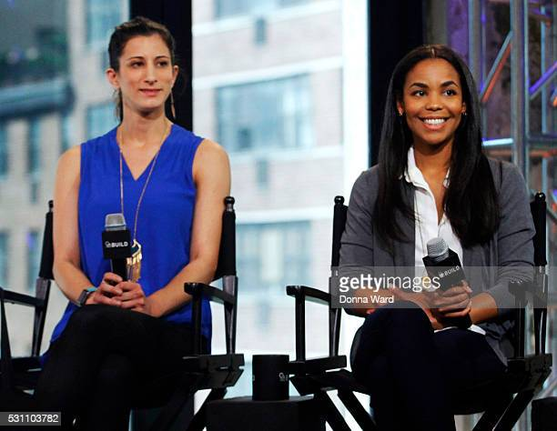 Jess Edelstein and Sarah Ribner appear to discuss Shark Tank during the AOL BUILD Speaker Series at AOL Studios In New York on May 12 2016 in New...