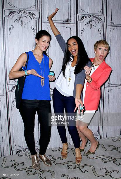 Jess Edelstein Sarah Ribner and Barbara Corcoran appear to discuss 'Shark Tank' during the AOL BUILD Speaker Series at AOL Studios In New York on May...