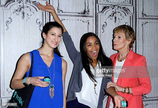 Jess Edelstein Sarah Ribner and Barbara Corcoran appear to discuss Shark Tank during the AOL BUILD Speaker Series at AOL Studios In New York on May...