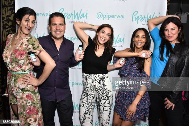Jess Edelstein Skeery Jones Joaney Lauren Sarah Ribner and Amy Freeze attend PiperWai NYC Launch Event at Vnyl on May 24 2017 in New York City