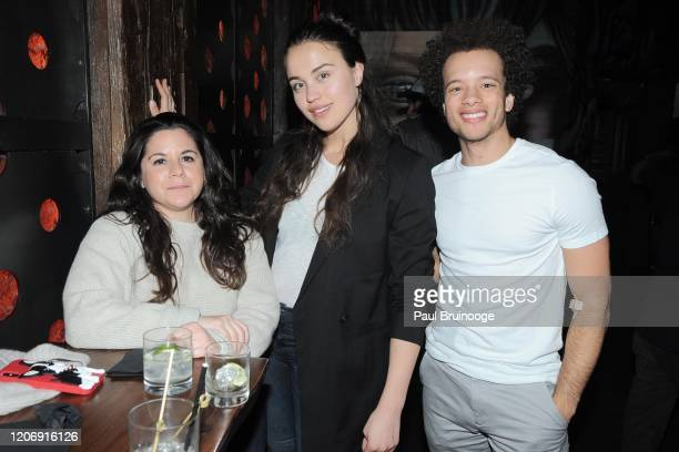 Jess Ford Emily Korteweg and Damon J Gillespie attend Sony Pictures Classics And The Cinema Society Host A Special Screening Of The Climb at iPic...