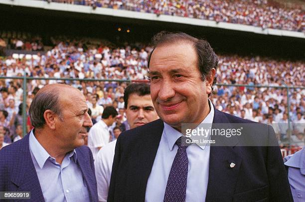 Jesús Gil president of the Atletico de Madrid FC