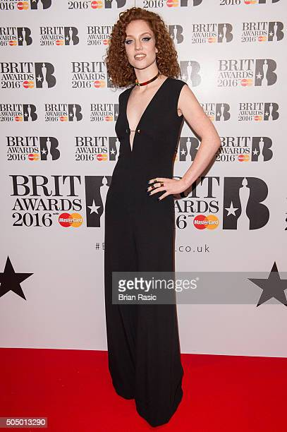 ONLY] Jess Glynee attends the nominations launch for The Brit Awards 2016 at ITV Studios on January 14 2016 in London England