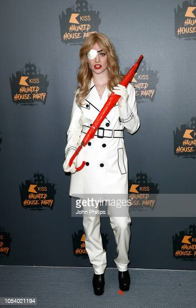 Jess Glynne attends KISS Haunted House Party 2018 at The SSE Arena Wembley on October 26 2018 in London England