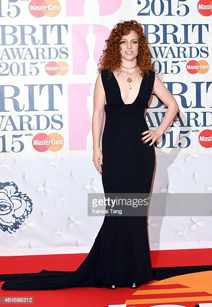 Jess Glynne attends the BRIT Awards 2015 at The O2 Arena on February 25 2015 in London England