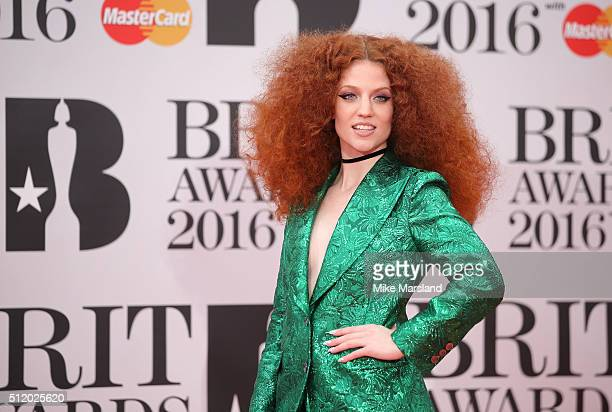 Jess Glynne attends the BRIT Awards 2016 at The O2 Arena on February 24 2016 in London England