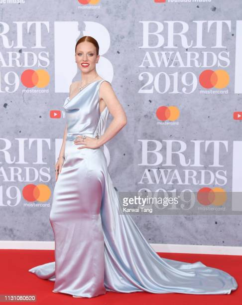Jess Glynne attends The BRIT Awards 2019 held at The O2 Arena on February 20 2019 in London England