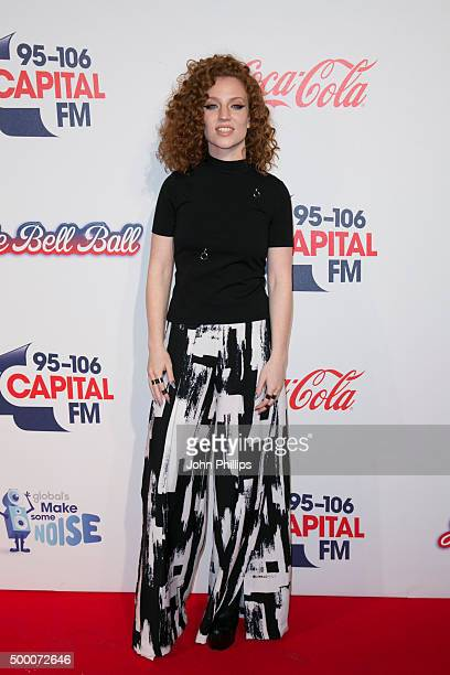 Jess Glynne attends the Jingle Bell Ball at The O2 Arena on December 5 2015 in London England
