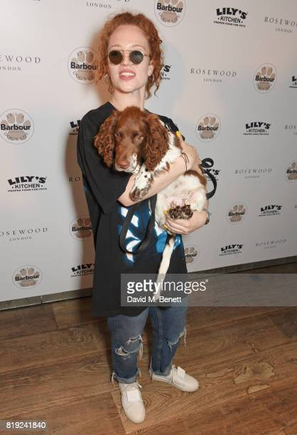 Jess Glynne attends the launch of Rosewood's Canine Luxury Experience and the Barbour Dogs Loyalty Scheme hosted by Rosewood London and Barbour at...