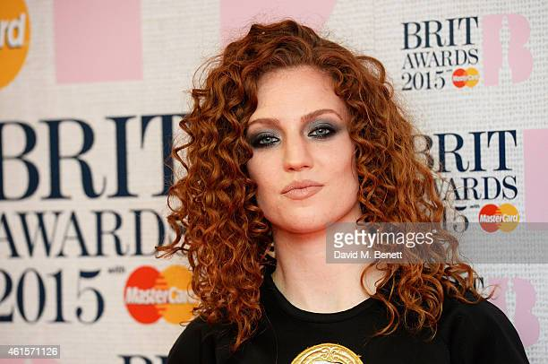 Jess Glynne attends the nominations launch for The Brit Awards 2015 at ITV Studios on January 15 2015 in London England