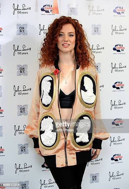 Jess Glynne attends The World Famous Oxford Street Christmas Lights Switch On Event taking place at John Lewis' Flagship Store on November 6 2014 in...